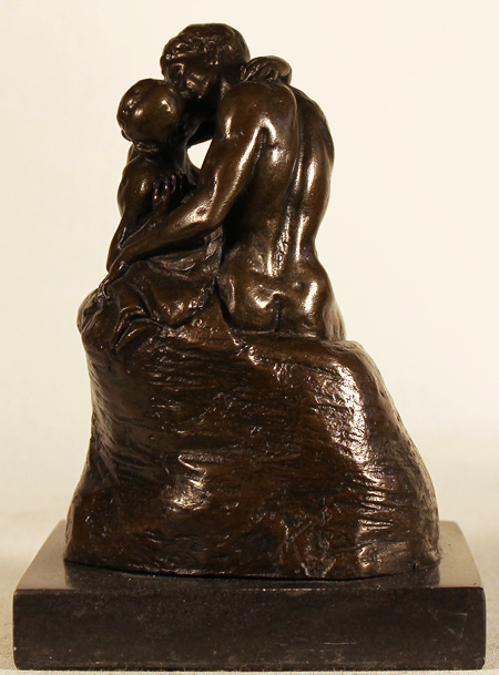 Bronze Statue, Bronze, The Kiss Without frame image. Click to enlarge