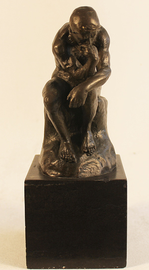 Bronze Statue, Bronze, The Thinker  Signature image. Click to enlarge