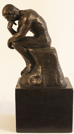 Bronze Statue, Bronze, The Thinker  Large image. Click to enlarge