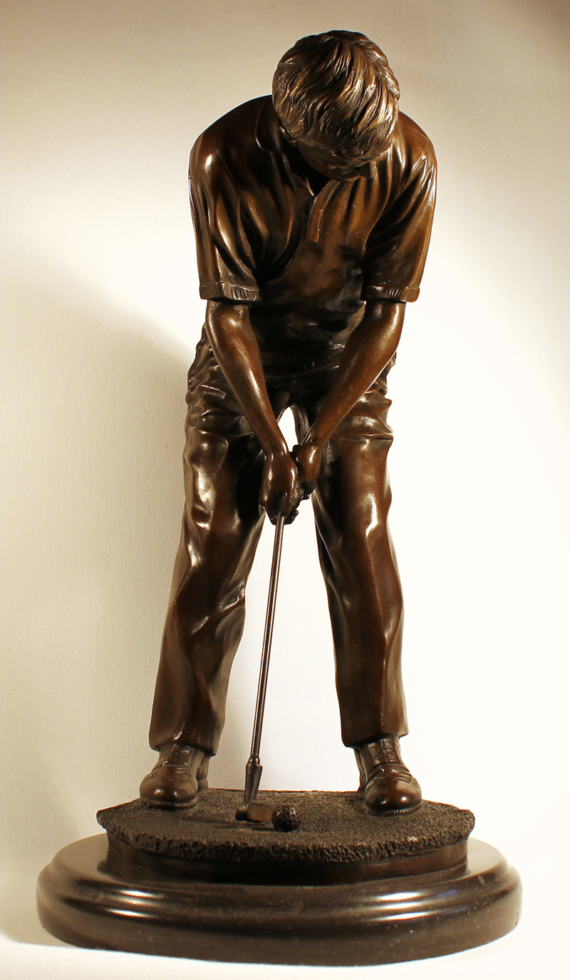 Bronze Statue, Bronze, Hole in One, click to enlarge
