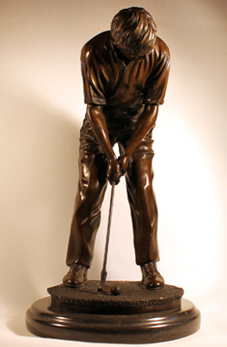 Bronze Statue, Bronze, Hole in One