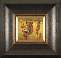 Carl Whitfield, Original oil painting on panel, Harvest Mouse Large image. Click to enlarge