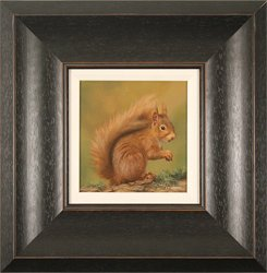 Carl Whitfield, Original oil painting on panel, Red Squirrel