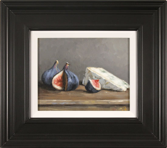 Caroline Richardson, Original oil painting on canvas, Figs and Blue Cheese