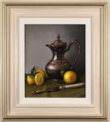 Caroline Richardson, Original oil painting on panel, Lemon and Sage