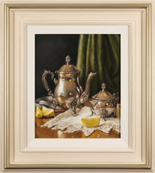 Caroline Richardson, Original oil painting on panel, Pot of Earl Grey Large image. Click to enlarge