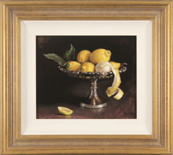 Caroline Richardson, Original oil painting on canvas, Lemons