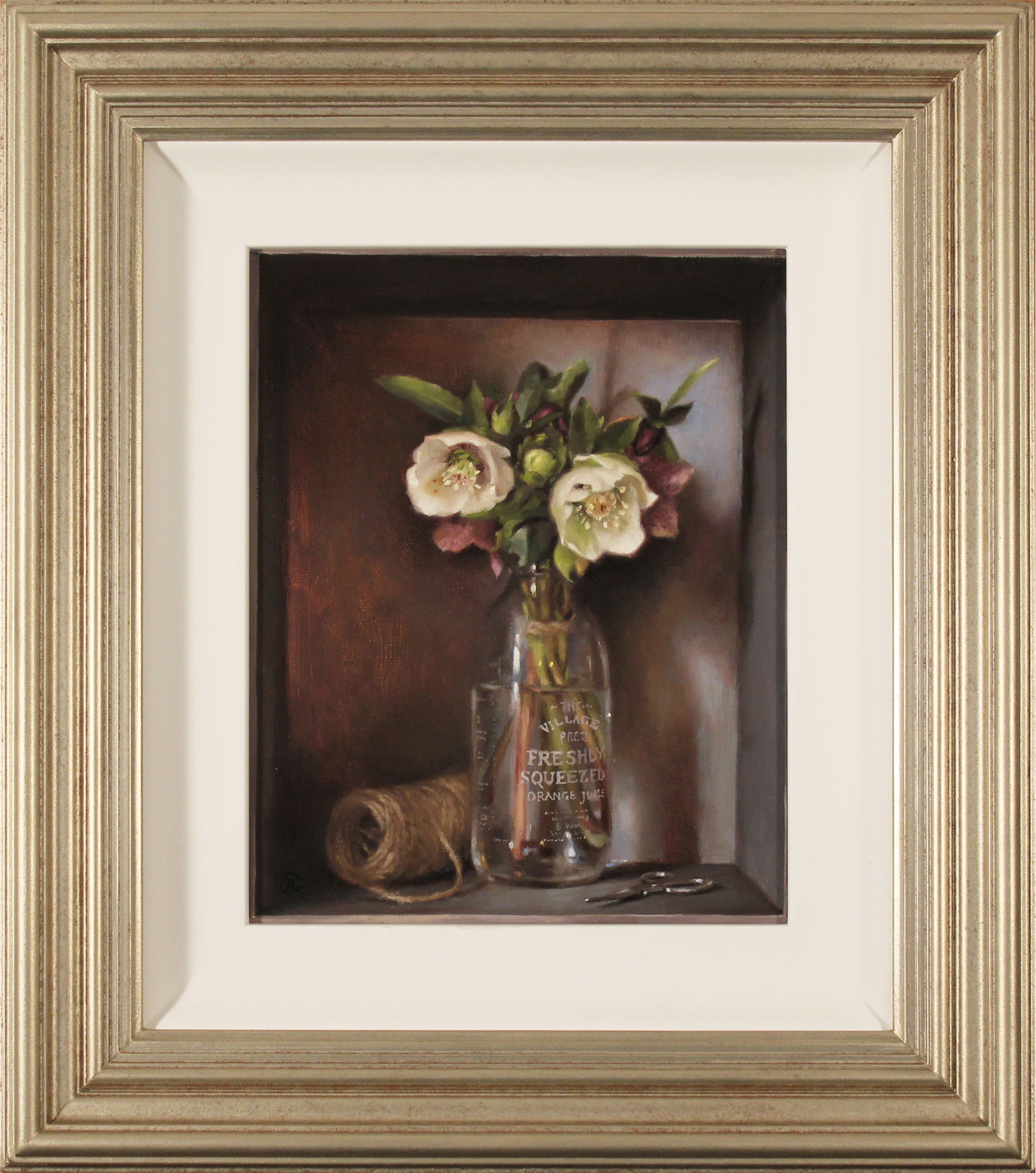 Caroline Richardson, Original oil painting on canvas, Hand Tied Posy , click to enlarge