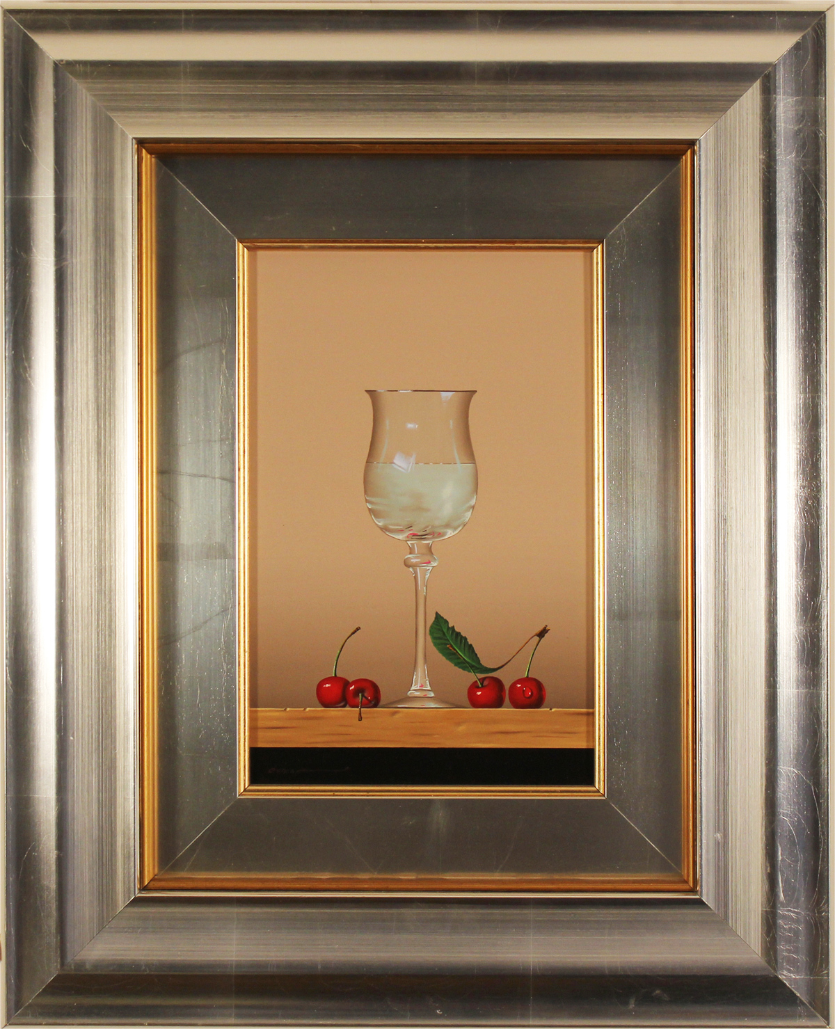 Casas, Original oil painting on panel, Glass Fruits, click to enlarge