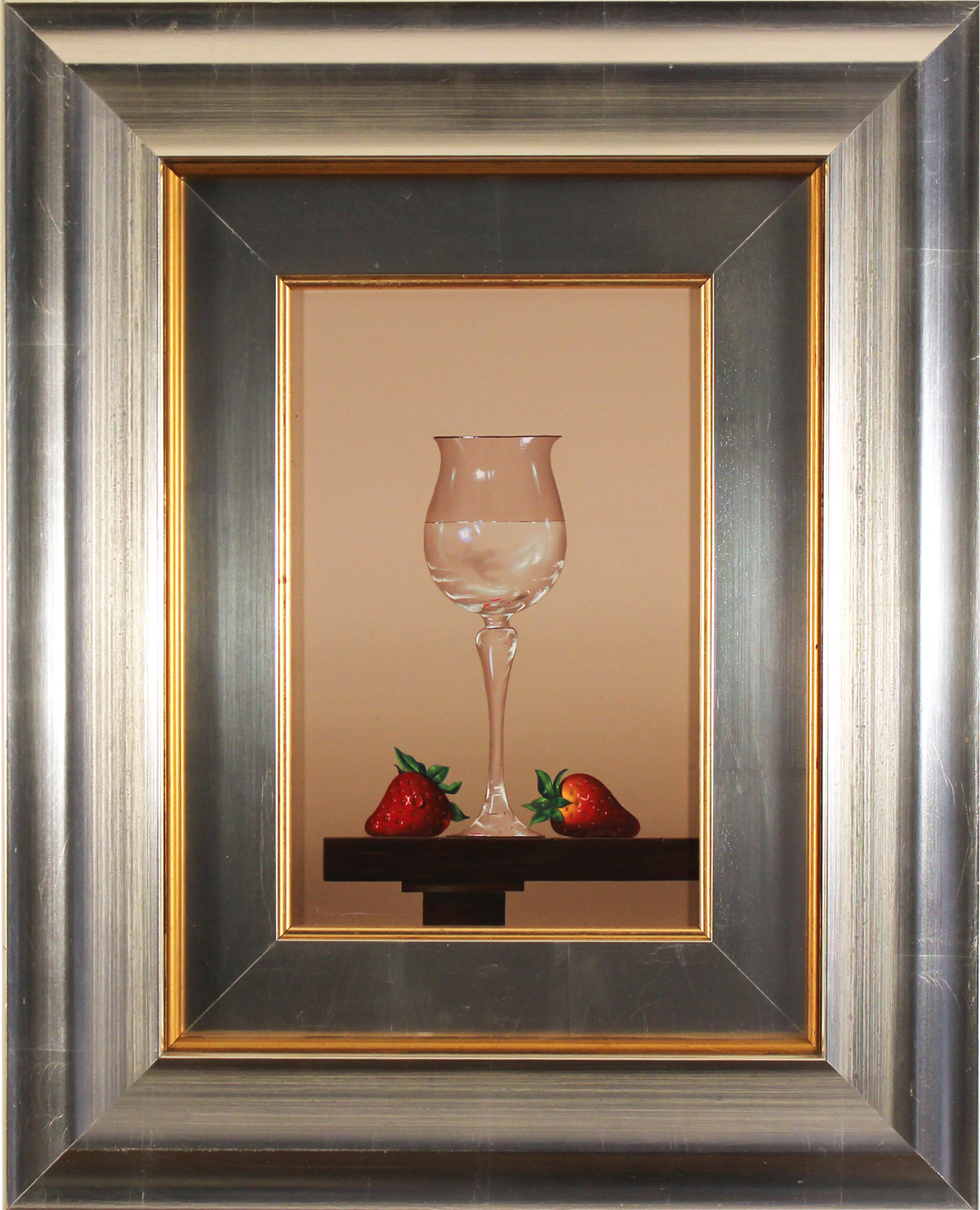 Casas, Original oil painting on panel, Glass Fruits. Click to enlarge