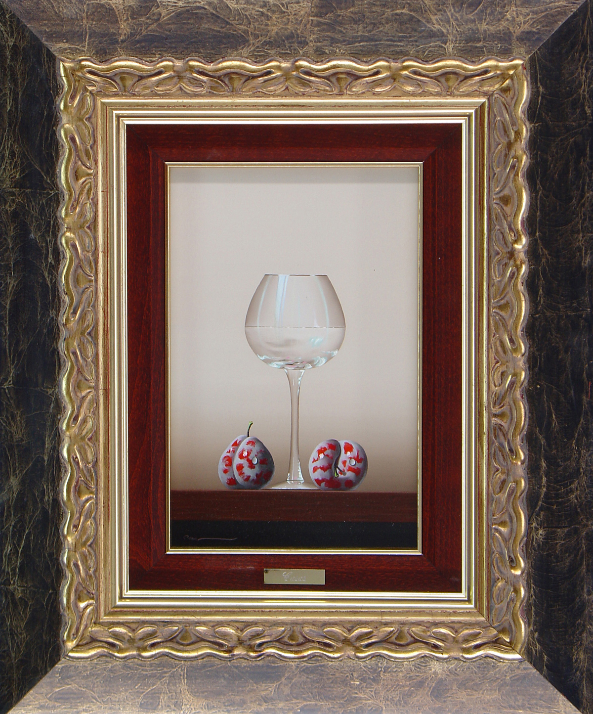 Casas, Original oil painting on panel, Still Life. Click to enlarge