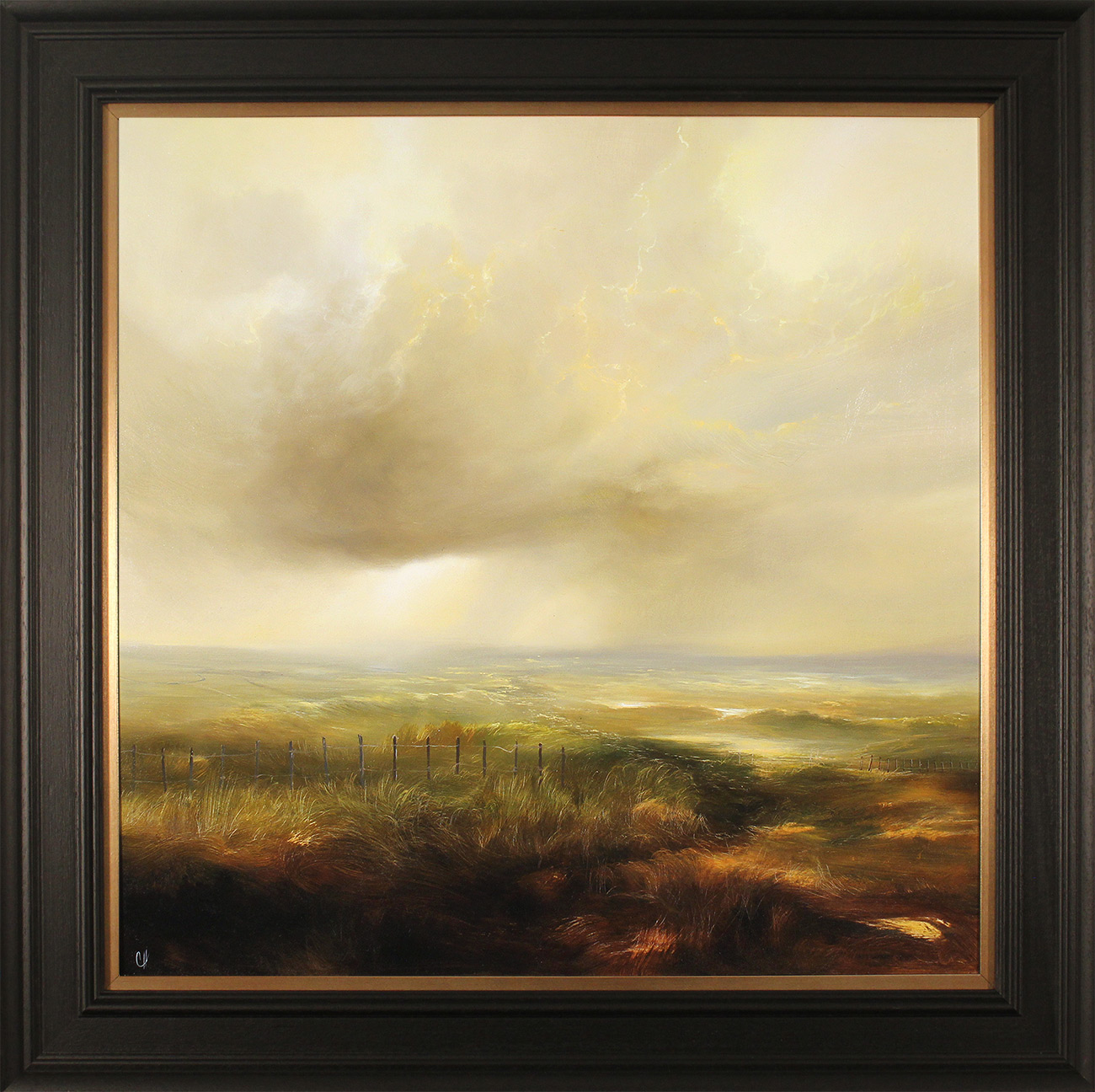 Clare Haley, Original oil painting on panel, Drifting into Moorlands, click to enlarge