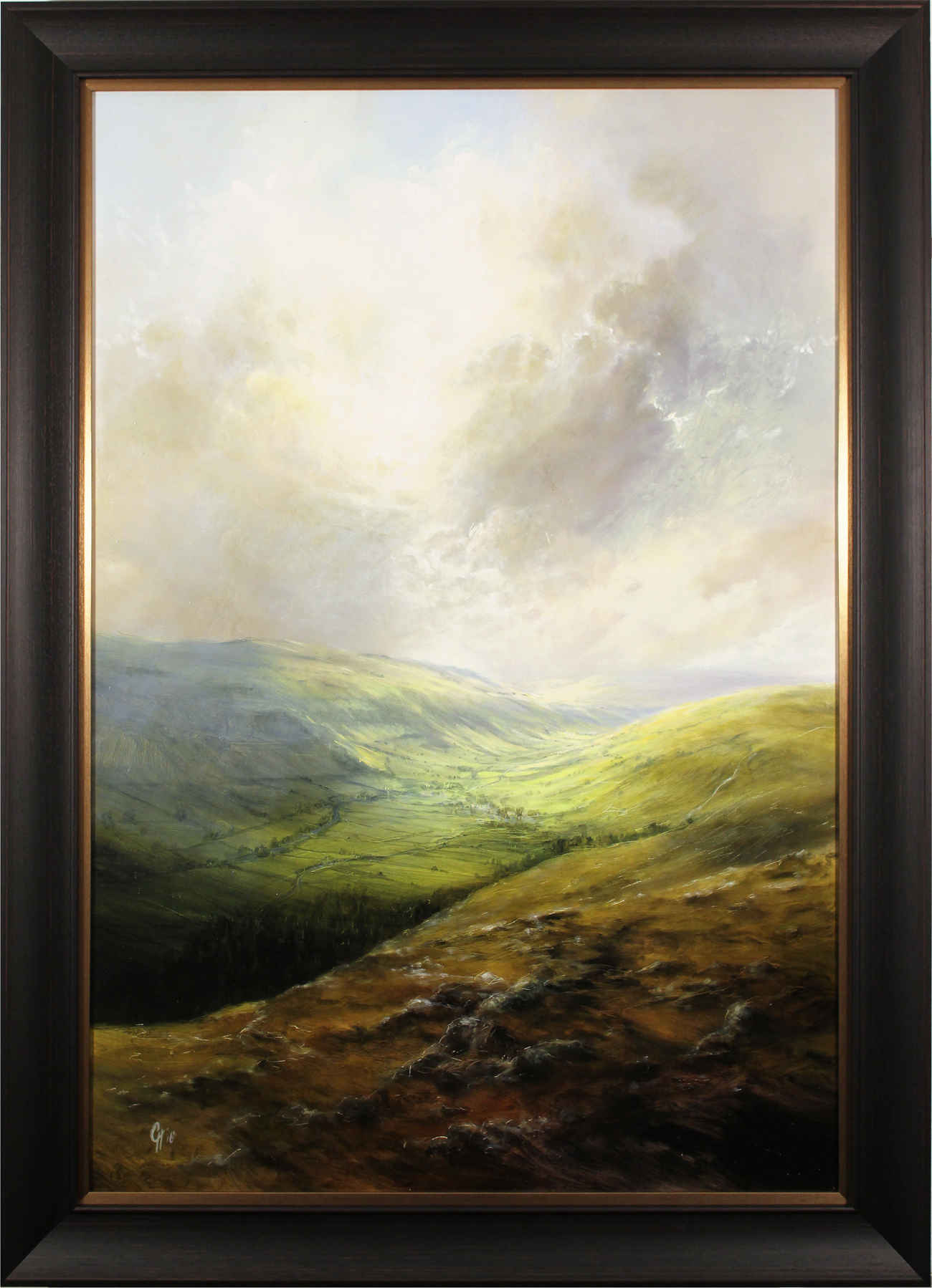 Clare Haley, Original oil painting on panel, The Majesty of the Wharfedale Valley, click to enlarge