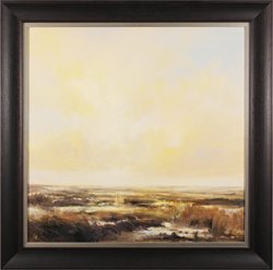 Clare Haley, Original oil painting on panel, Marshlands in the Brightest Light