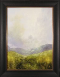Clare Haley, Original oil painting on panel, Down the Grassy Path