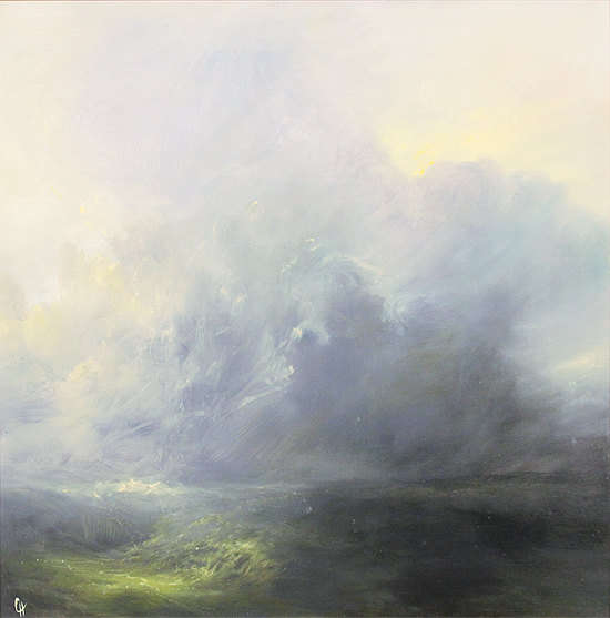 Clare Haley, Original oil painting on panel, Weather Warning