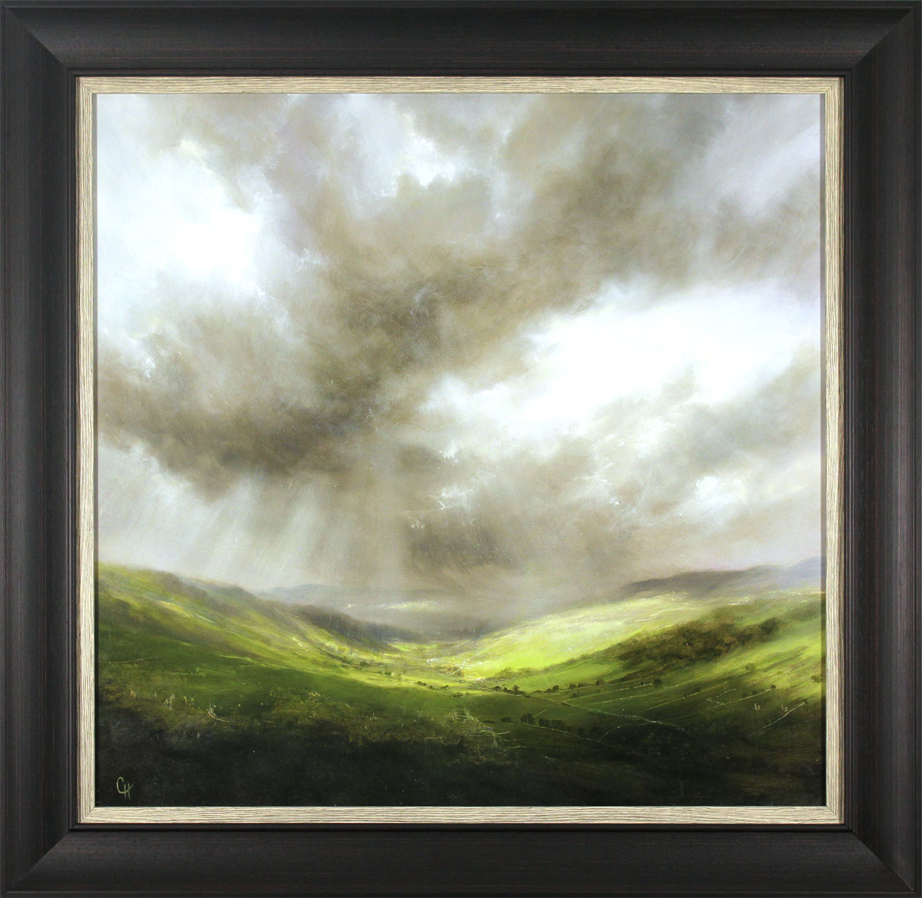 Clare Haley, Original oil painting on panel, Light Show at Wharfedale, click to enlarge