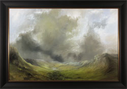 Clare Haley, Original oil painting on panel, Braving the Elements