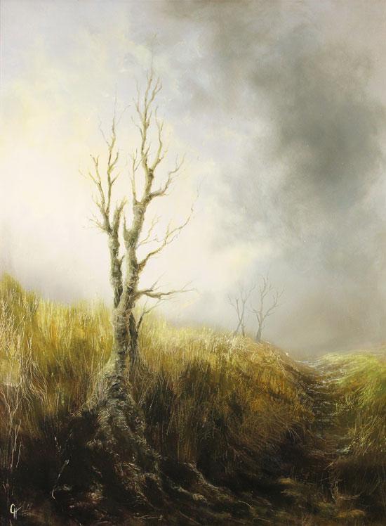 Clare Haley, Original oil painting on panel, The Last Season