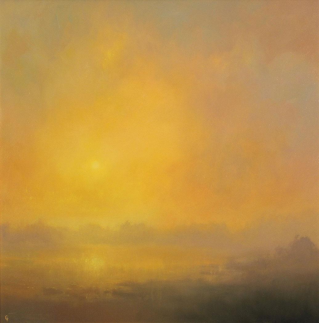 Clare Haley, Original oil painting on panel, Warm Haze