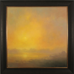 Clare Haley, Original oil painting on panel, Warm Haze