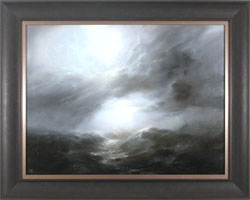 Clare Haley, Original oil painting on panel, Twisting Skies