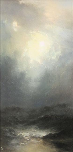 Clare Haley, Original oil painting on panel, Casting a Shadow
