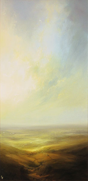 Clare Haley, Original oil painting on panel, Let the Light In