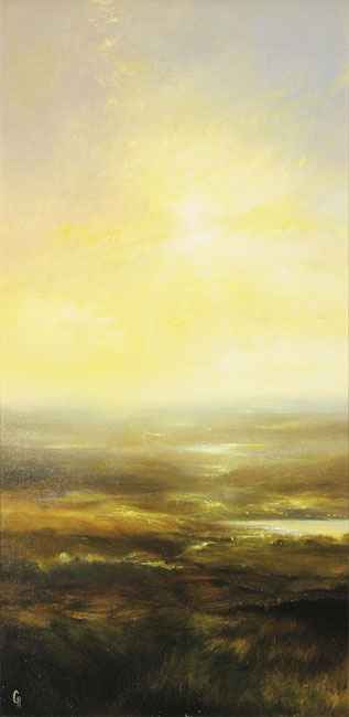 Clare Haley, Original oil painting on panel, All that Glistens