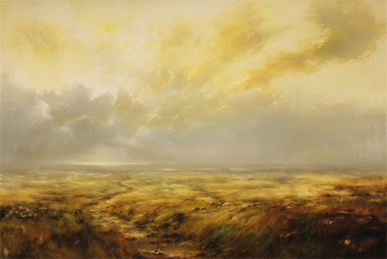 Clare Haley, Original oil painting on panel, Golden Light No frame image. Click to enlarge