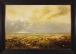 Clare Haley, Original oil painting on panel, Golden Light