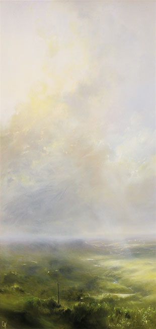 Clare Haley, Original oil painting on panel, Nature's Own Pathways No frame image. Click to enlarge