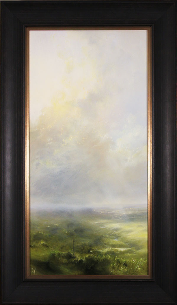 Clare Haley, Original oil painting on panel, Nature's Own Pathways. Click to enlarge