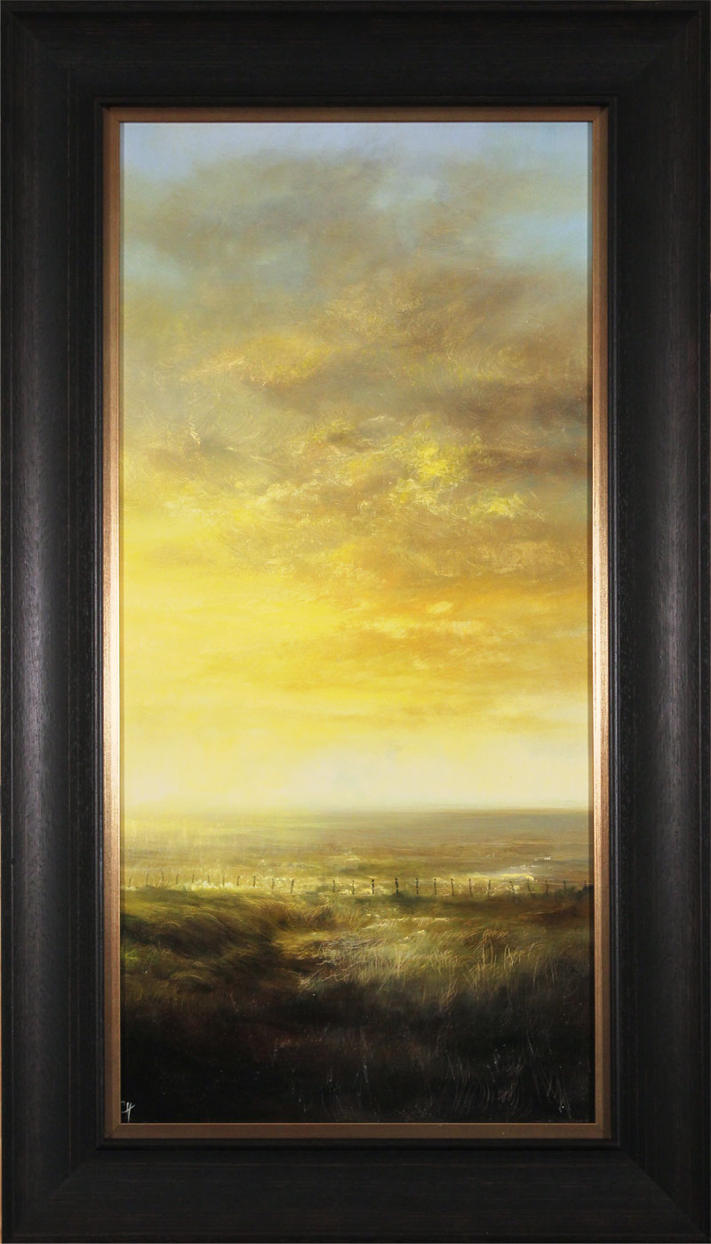 Clare Haley, Original oil painting on panel, Evening Whispers. Click to enlarge