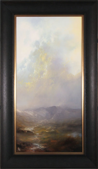 Clare Haley, Original oil painting on panel, The Rains Will Fade. Click to enlarge
