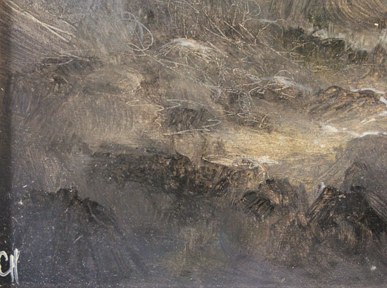 Clare Haley, Original oil painting on panel, Reach for the Uplands