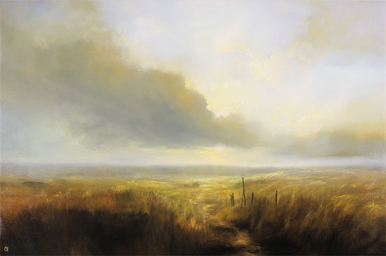 Clare Haley, Original oil painting on panel, Cloud Walking Without frame image. Click to enlarge