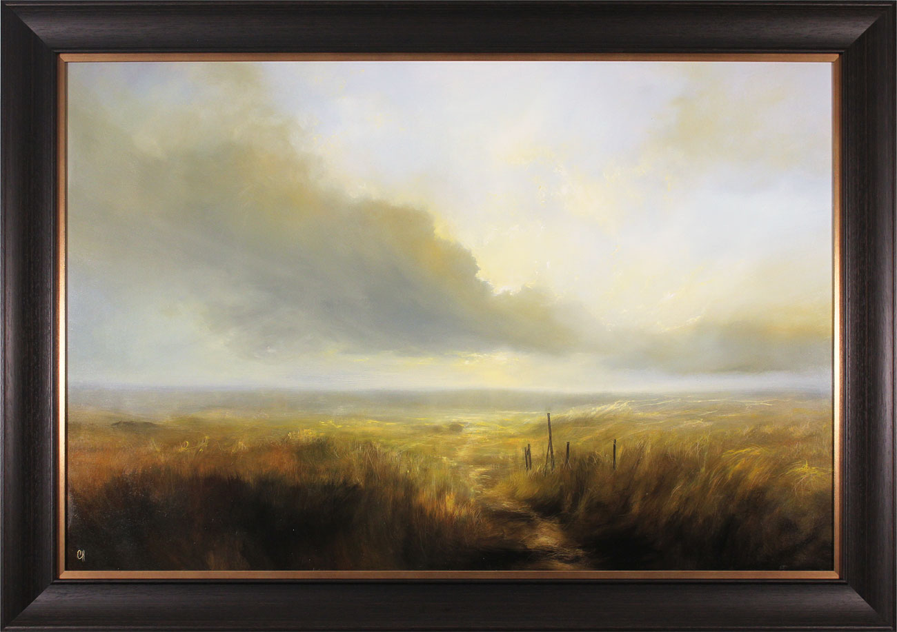 Clare Haley, Original oil painting on panel, Cloud Walking. Click to enlarge