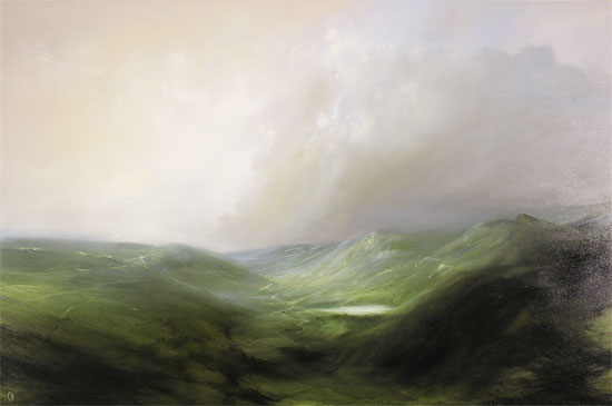 Clare Haley, Original oil painting on panel, The Rolling North No frame image. Click to enlarge