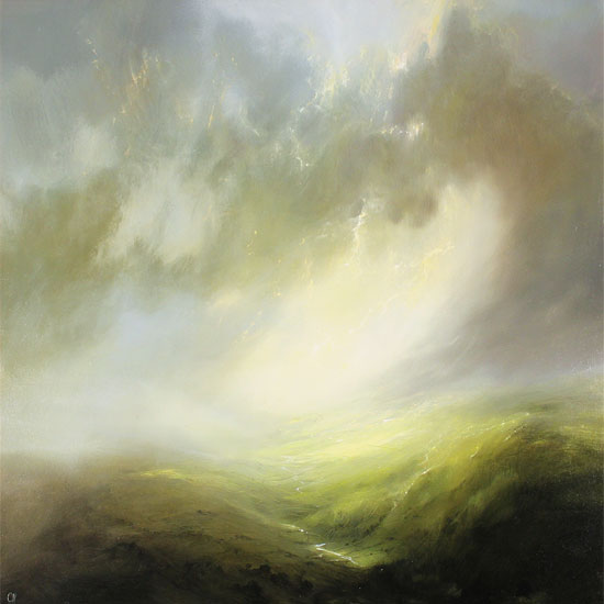 Clare Haley, Original oil painting on panel, Valley of Light No frame image. Click to enlarge