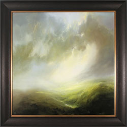 Clare Haley, Original oil painting on panel, Valley of Light Large image. Click to enlarge