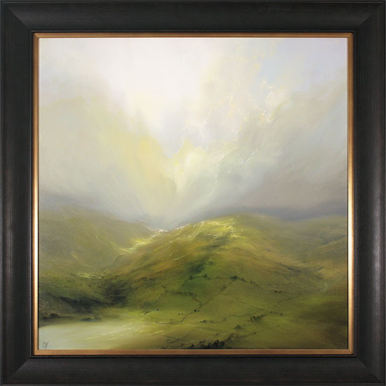 Clare Haley, Original oil painting on panel, Wide Open View