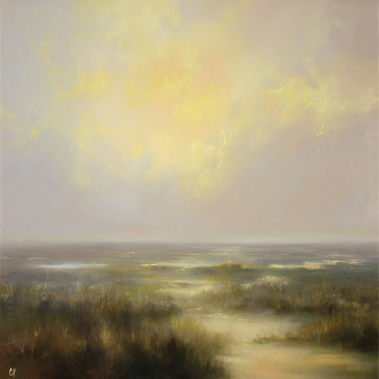 Clare Haley, Original oil painting on panel, Open Moorlands No frame image. Click to enlarge
