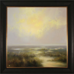 Clare Haley, Original oil painting on panel, Open Moorlands Large image. Click to enlarge