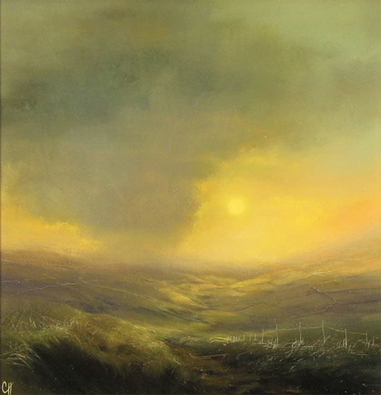 Clare Haley, Original oil painting on panel, Warmth in the Air No frame image. Click to enlarge