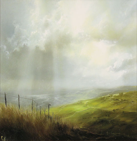 Clare Haley, Original oil painting on panel, Capture the Moment No frame image. Click to enlarge