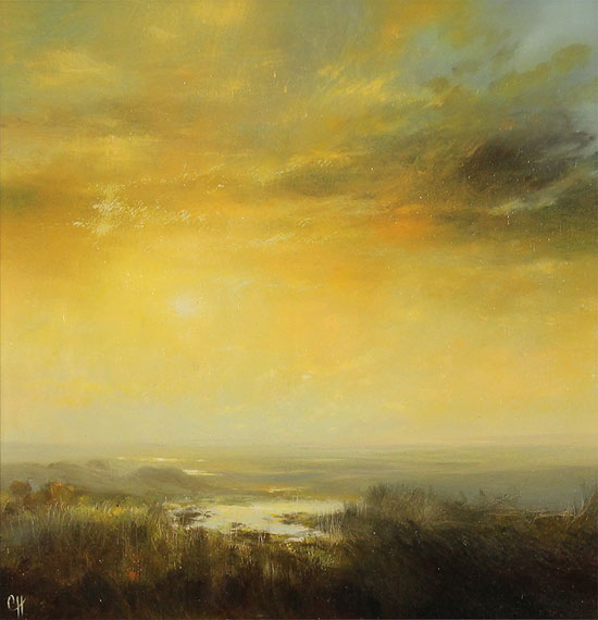 Clare Haley, Original oil painting on panel, All is Tranquil No frame image. Click to enlarge