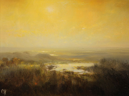 Clare Haley, Original oil painting on panel, All is Tranquil Signature image. Click to enlarge