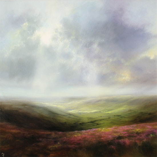 Clare Haley, Original oil painting on panel, A Fine Yorkshire Day Without frame image. Click to enlarge