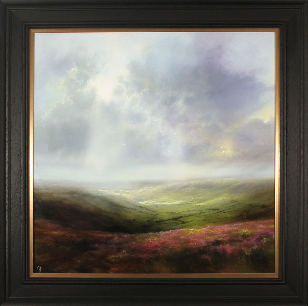 Clare Haley, Original oil painting on panel, A Fine Yorkshire Day. Click to enlarge